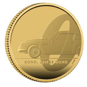 1/4 oz James Bond 007 DB5 UK Proof goud (2020)