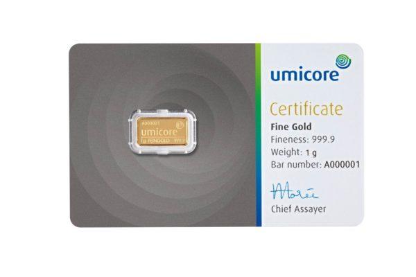 1 gram goudbaar Umicore