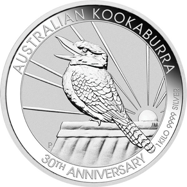 1 kg oz Australian Kookaburra zilver (2020)