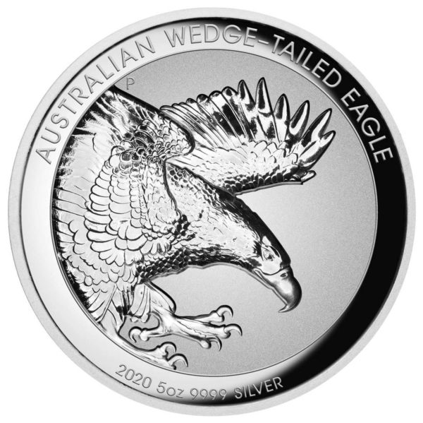5 oz Australian Wedge Tailed Eagle Proof zilver (2020)