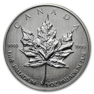 1 oz Maple Leaf Palladium (verschillende jaren van uitgifte)