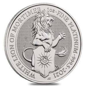 1 oz Queens Beasts White Lion platina (2021)
