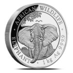 1 kg Somalia Elephant zilver (2021)