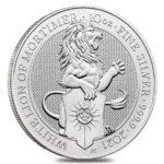 10 oz Queens Beasts White Lion zilver (2021)