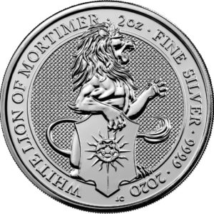 2 oz Queens Beasts White Lion zilver (2020)