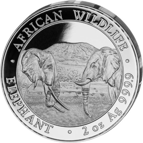 2 oz Somalia Elephant zilver (2020)