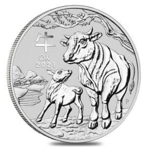 1 oz Australian Lunar III Ox zilver (2021)