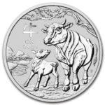 2 oz Australian Lunar III Ox zilver (2021)