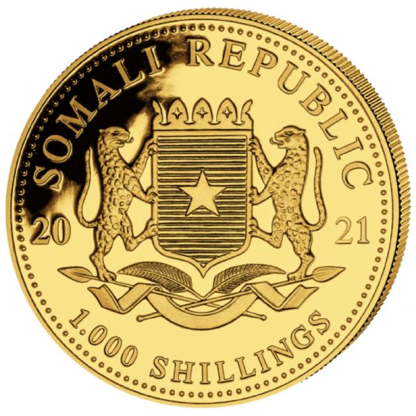 1 oz Somalia Elephant goud (2021)