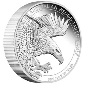 2 oz Australian Wedge Tailed Eagle zilver Proof (2020)