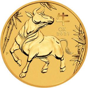 1/20 oz Australian Lunar III Ox goud (2021)