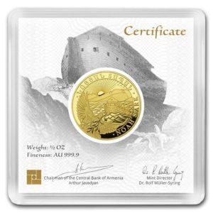 1/2 oz Noah's Ark goud (2020)