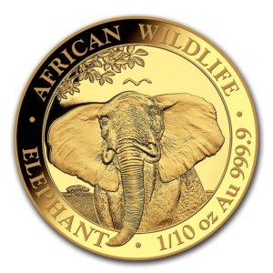 1/10 oz Somalia Elephant goud (2021)