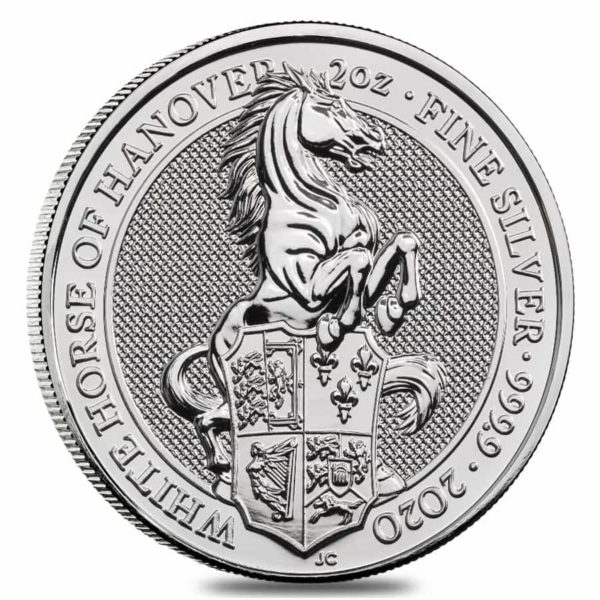 2 oz Queens Beasts White Horse zilver (2020)