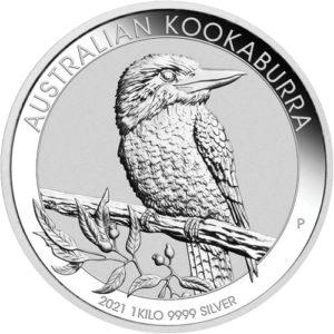 1 kg Australian Kookaburra zilver (2021)