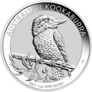 1 oz Australian Kookaburra zilver (2021)