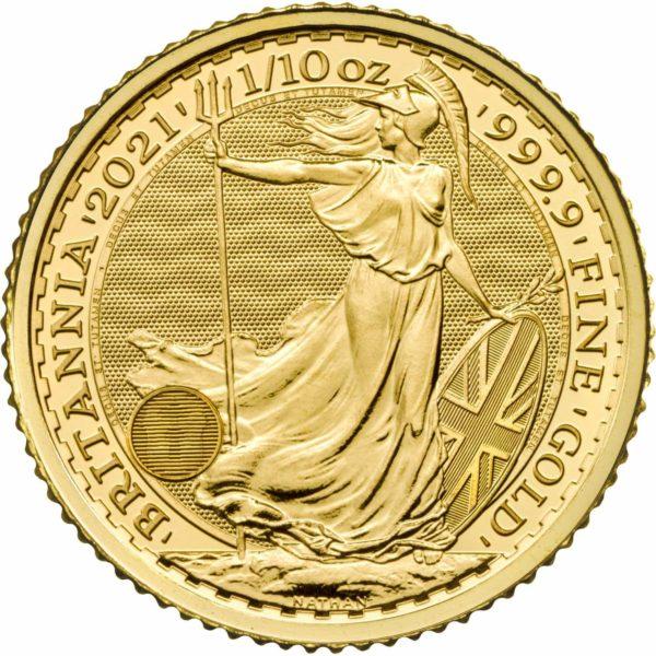 1/10 oz Britannia goud (2021)