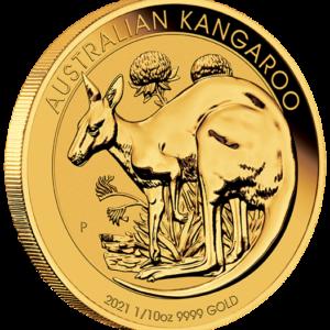 1/10 oz Australian Kangaroo goud (2021)