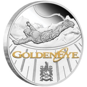 1 oz James Bond Goldeneye 007 Tuvalu Proof zilver (2020)