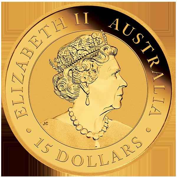 1/10 oz Australian Kookaburra goud (2021)