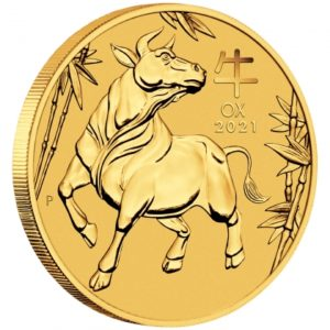 1 oz Australian Lunar III Ox Proof goud (2021)