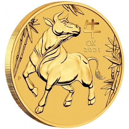1 oz Australian Lunar III Ox Proof goud (2021)