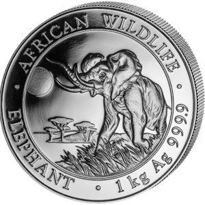 1 kg Somalia Elephant zilver (2016)
