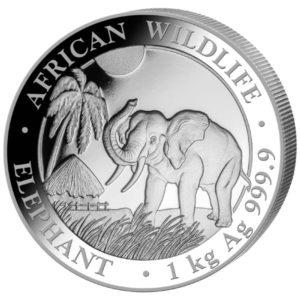 1 kg Somalia Elephant zilver (2017)