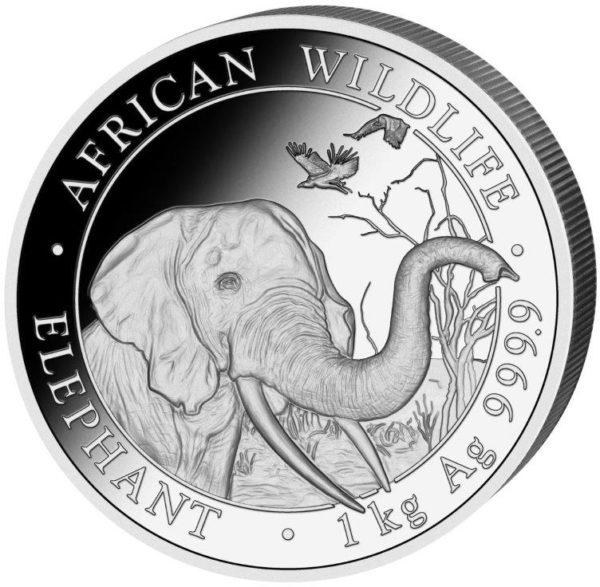 1 kg Somalia Elephant zilver (2018)