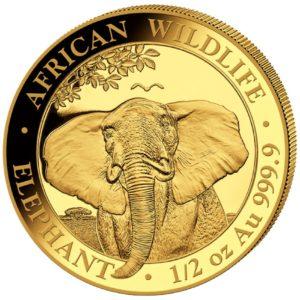 1/2 oz Somalia Elephant goud (2021)