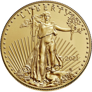 1 oz American Eagle goud (2021)