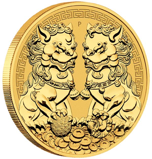 1 oz Australian Double Pixiu goud (2021)