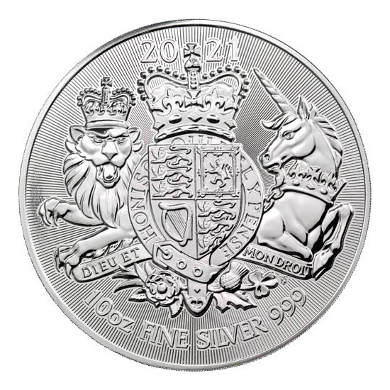 10 oz Royal Arms zilver (2021)