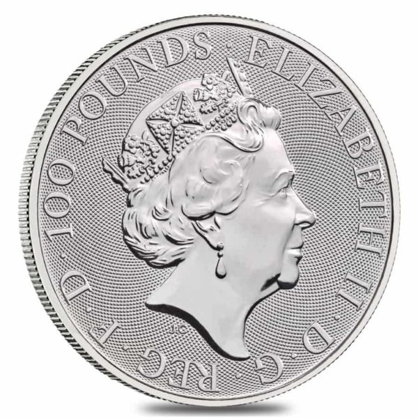 1 oz Queens Beasts White Horse platina (2021)