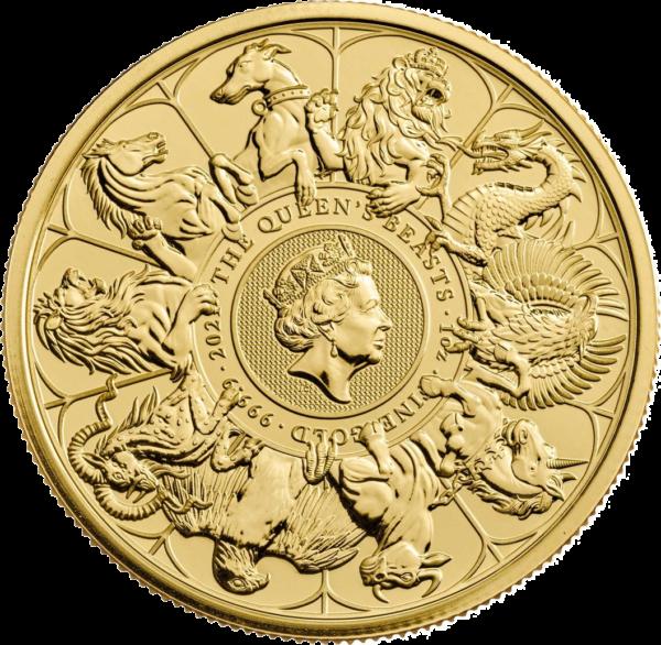 1 oz Queens Beasts Collection goud (2021)