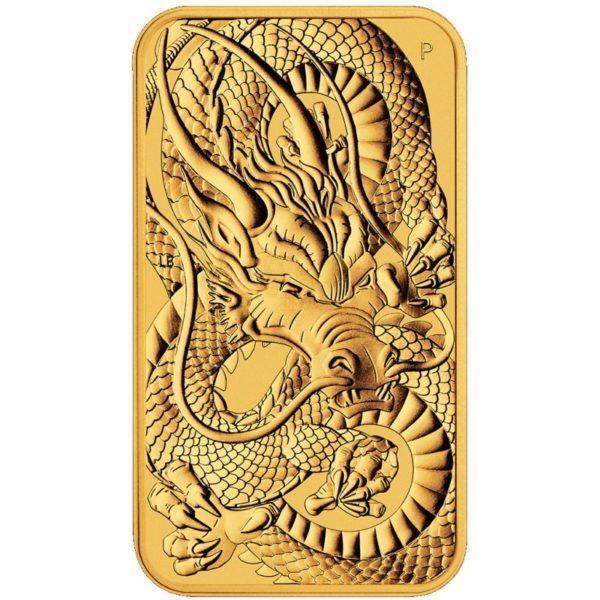 1 oz Australian Rectangular Dragon goud (2021)