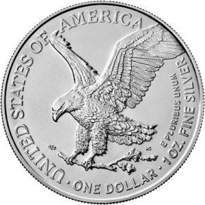 1 oz American Eagle zilver (2021) (nieuw ontwerp)