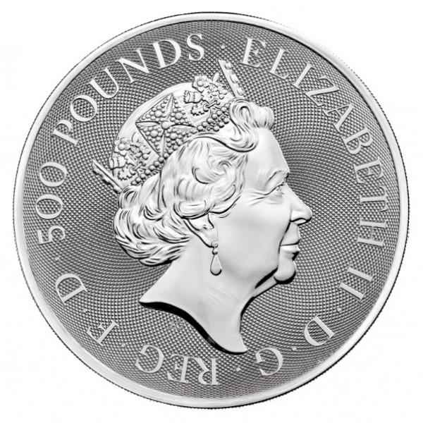 1 kg Queens Beasts Collection zilver (2021)